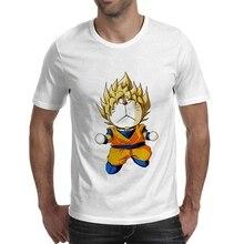 Batman Robot Cat Goku Doraemon Funny Cartoon Pattern Art Print Summer Leisure fashion Mashup Round Neck Top Mens T-Shirt