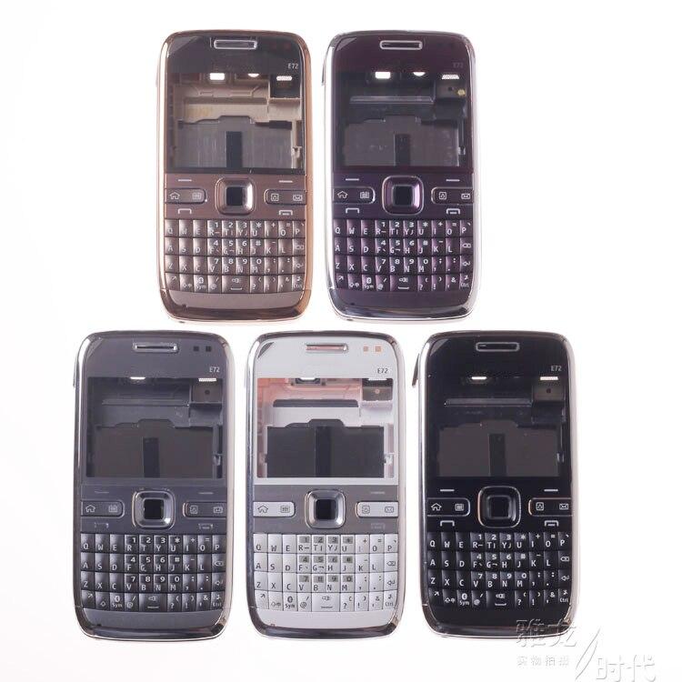 Black White Gold Purple Gray Color 100 Original For Nokia E72 with logo Complete Full Housing
