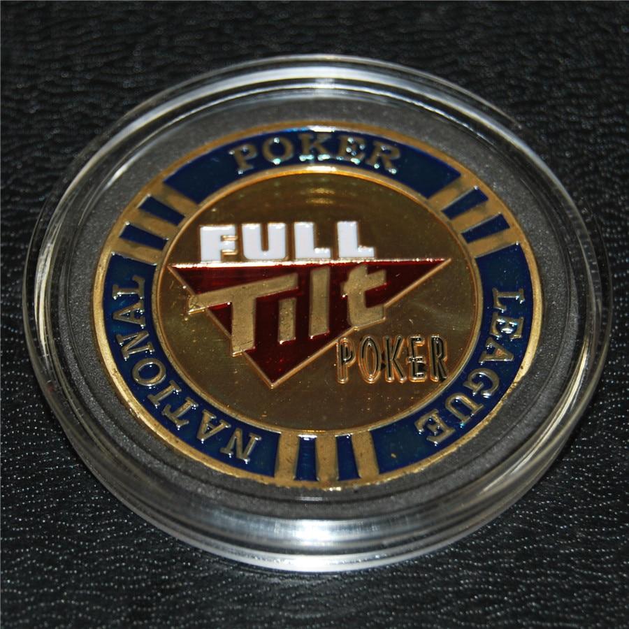 Free Shipping 5pcs/lot,Full Tilt Poker (FTP) Metal Chips / Card Protectors