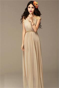 Aliexpress.com : Buy Fashion Women Bridesmaid Chiffon Maxi Dress ...