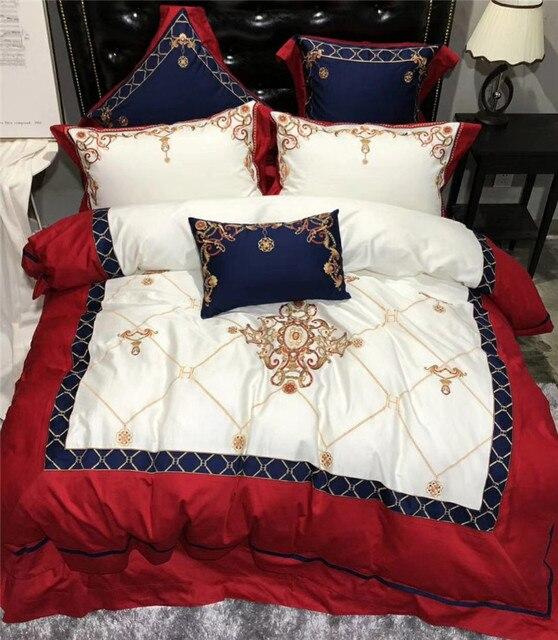 Luxury 100% Egyptian cotton bedding set king size designer bedding bedlinen queen duvet cover set egyptian cotton bed sheet