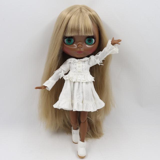 TBL Neo Blythe Doll Giza Nywele La Dhahabu Iliyounganika