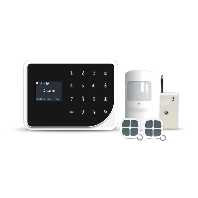 433mhz WIFI GSM alarm system home security alarm system wifi gsm alarm with wireless vibration sensor/ 15KG pet immune PIR цена