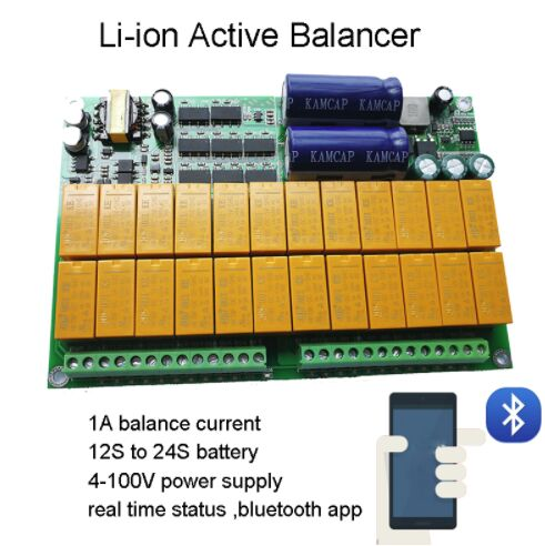 eBike Bluetooth Lithium Battery Protection Board Active Equalizer 1A Balance 12S ~ 24S BMS Li-ion Lipo Lifepo4 LTO Balancer APPeBike Bluetooth Lithium Battery Protection Board Active Equalizer 1A Balance 12S ~ 24S BMS Li-ion Lipo Lifepo4 LTO Balancer APP
