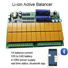 eBike Bluetooth Lithium font b Battery b font Protection Board Active Equalizer 1A Balance 12S 24S