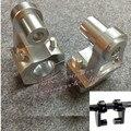S. UYUE Anodizado plata Universal 2 Pulgadas Pivotantes Riser Manillar de La Motocicleta Para 7/8 28mm Barras de Sujeción