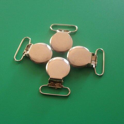 atacado 200 pcs 1 25 mm sliver cor round top suspender pacifier clips de metal