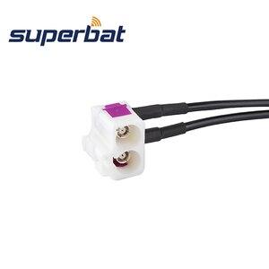 """Image 2 - Superbat Fakra כפול """"B"""" שקע כדי Fakra """"Z"""" תקע צם Jumper קואקסיאלי כבל Fakra B Z 30cm עבור רדיו עם פנטום"""