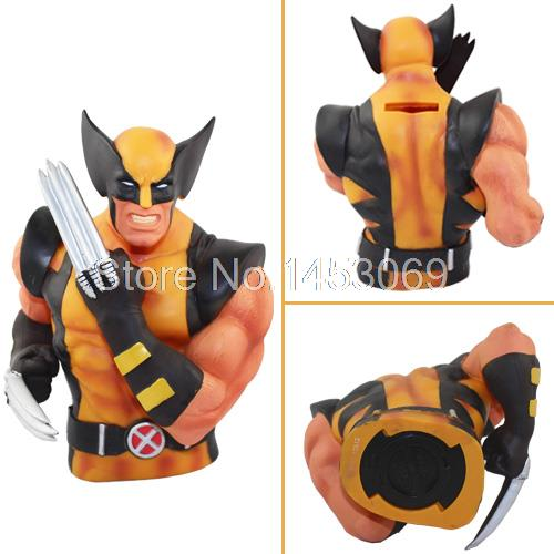Free Shipping Super Heroes  X-Men Piggy Bank Coin Money Bank PVC Action Figure Collectible Model Toy 7