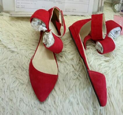 Gran Bowtie Corbata de tobillo Sandalias de gladiador Mujeres Rojo - Zapatos de mujer - foto 6