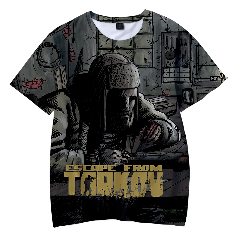 2019 3D Escape From Tarkov Print Casual Children summer t-shirts 2019 Hot Sale boys and girls Short Sleeve t-shirts Plus Size