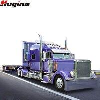 RC Car 6 Channel 10 Rubber Tires Hauler Vehicle Remote Control Super Long Platform Transporter Trailer