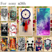 Anunob Silicone Phone Cases For Sony Xperia ZR M36h C5502 C5503 4.6 inch Cover Animals Flower Eiffel Tower TPU Housing Bumper