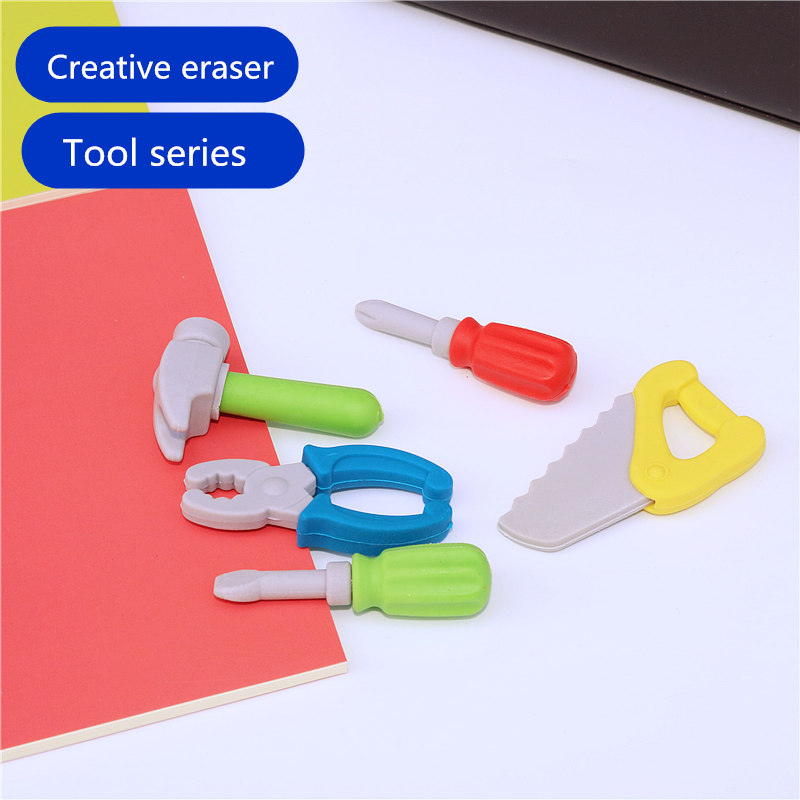 5PCS Cute Creative Eraser Tool Series Pencil Erasers  Rubber Material Soft And Safe Children Learn Prizes