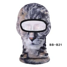 New Lovely Cute New 3D Cat Animal Bicycle Cycling Fishing Hat Outdoor Sports Cap Ski Balaclava Motorcycle Full Face Mask BBB21