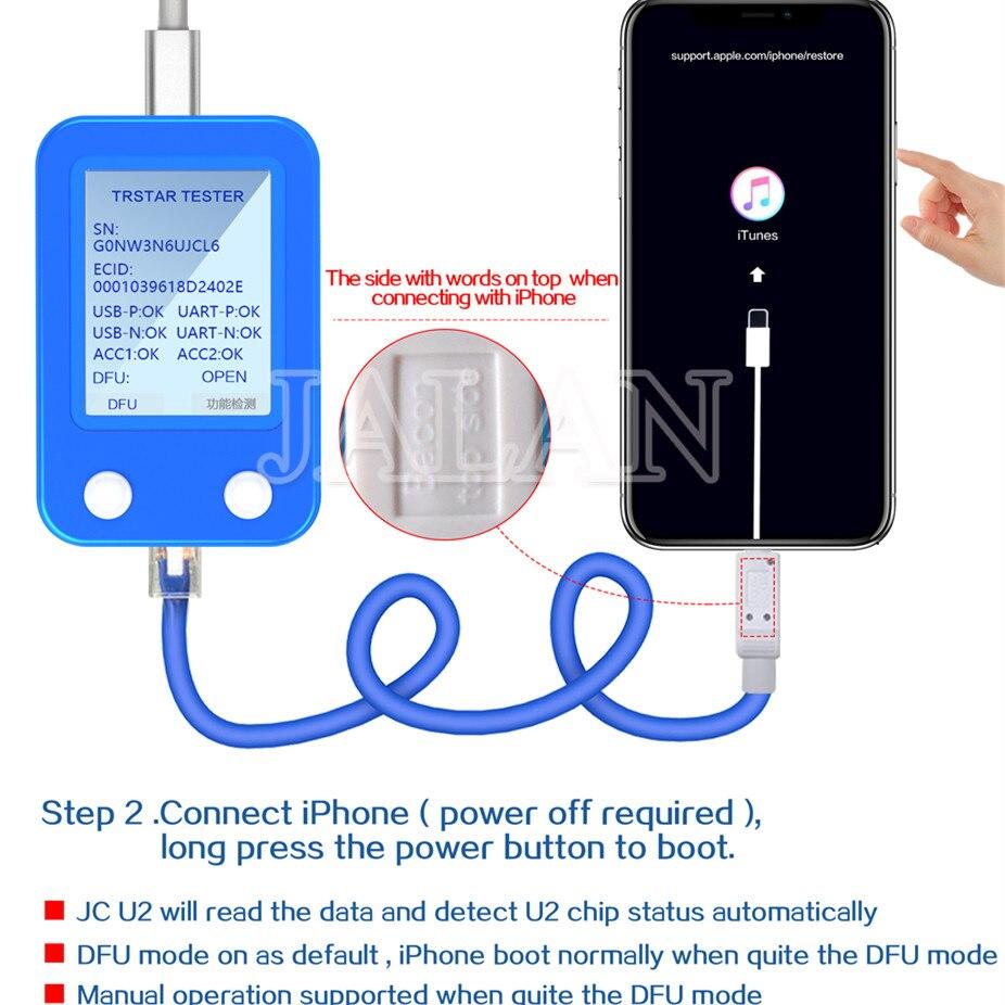 Nouveau JC U2 Tristar testeur charge IC défaut SN numéro de série DFU détecteur rapide outil pour iPhone 5S 6S plus 6p 7 8P XS MAX