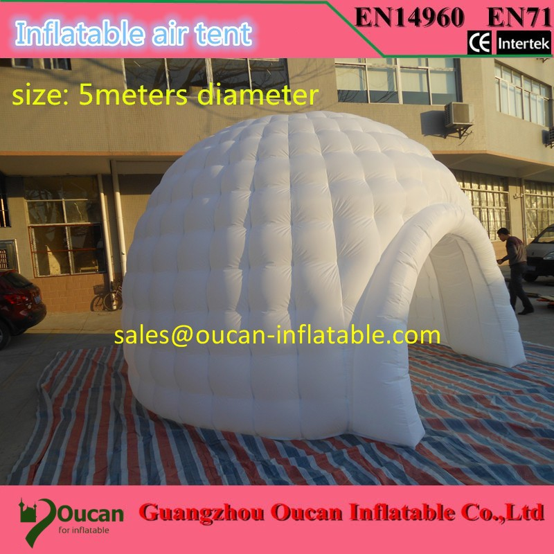 все цены на  Color changing LED lighted inflatable dome tent igloo tent LED inflatable tent with LED  в интернете