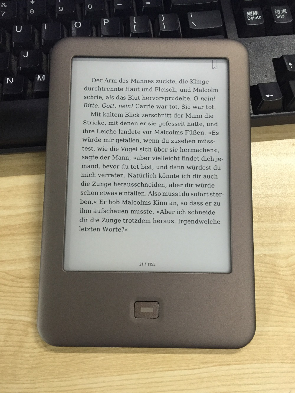 Light e-book Tolino Shine ebook reader E-ink 6 inch 1024×758 WIFI e books 4GB book Reader