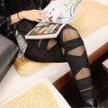 2017 Горячие продажа бинты брюки красный черный леггинсы женщины с сетки сексуальная ночной клуб брюки femme мода одежда A7825