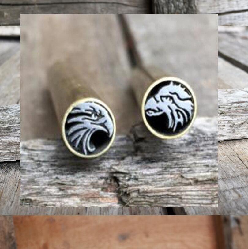 Couteau tige Mosaïque aigle Rivets 45mm nail En Laiton tube 8mm DIY couteau poignée vis Plus conception