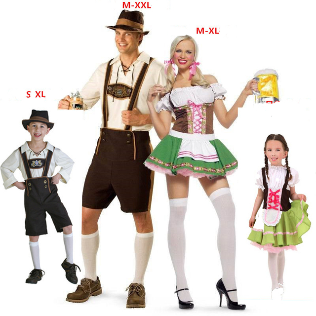family outfit oktoberfest costume bavarian octoberfest german festival beer cosplay halloween costumes for men