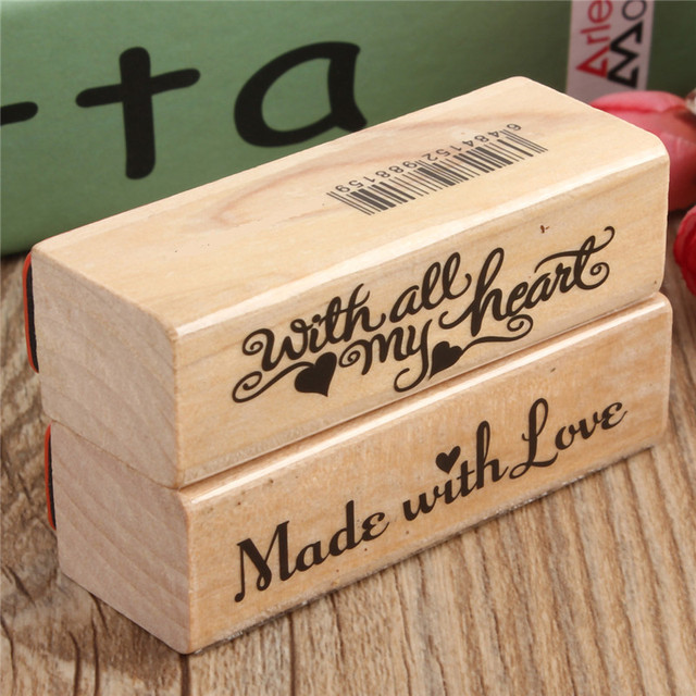 Vintage English Rubber Wooden Stamp Sbooking Craft Wedding Party Card Making Diy Sbook Al Diary