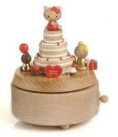 Деревянные Заводной Тип поворотный Музыкальная шкатулка Рождественский детский день рождения подарок к празднику Музыкальная Шкатулка де