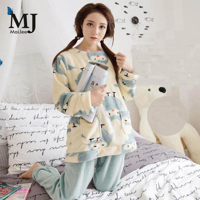 0e9f0edac XXL Big Size Flannel Winter Women Pajama Sets Pijama Mujer Plus Size  Pyjamas Feminino Pink Pajamas Pyjamas Women Sleepwear