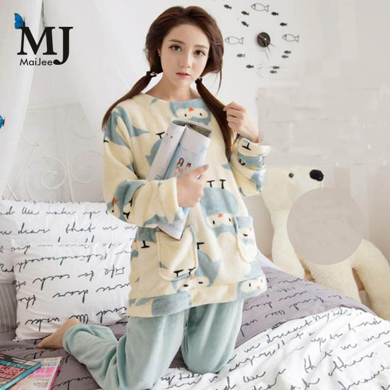 XXL Big Size Flannel Winter Women   Pajama     Sets   Pijama Mujer Plus Size Pyjamas Feminino Pink   Pajamas   Pyjamas Women Sleepwear