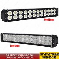 Супер яркий 240 Вт светодио дный светодиодный свет бар 20 дюймов комбинированный луч 12 В светодио дный светодиодный рабочий свет светодио дны