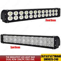 Super Bright 240W led light bar 20inch combo beam 12v led work light offroad led driving lights for truck car 4x4 SUV ATV x1pc