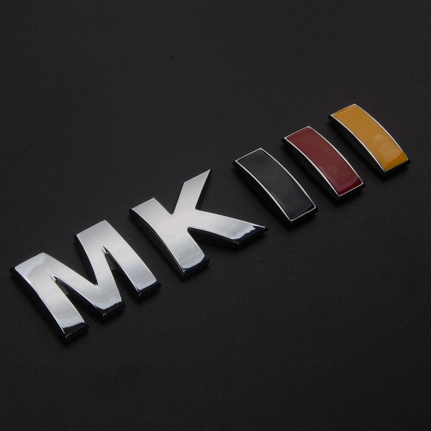 auto car styling german flag color mkiii rear trunk decoration badge emblem sticker