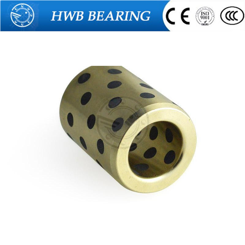 JDB182841 linear graphite copper set bearing copper bushing oil self-lubricating bearing  18x28x41mm jdb 406080 copper sleeve the same size of lm12 linear solid inlay graphite self lubricating bearing