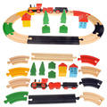 21 pcs best birthday gift educational colorful  wooden Tomas railway train track slot toys  for children