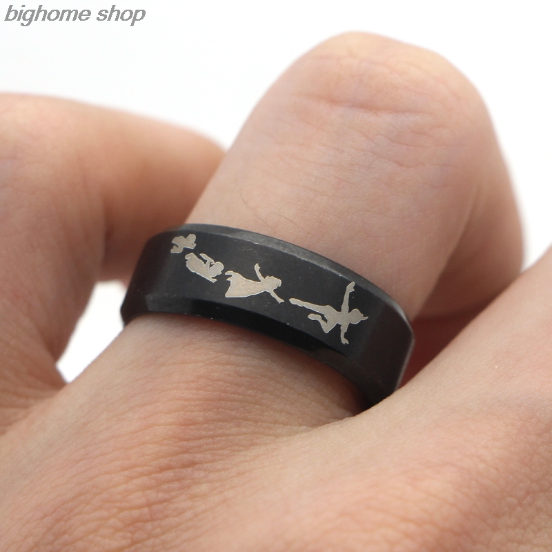 F127 New Punk Style Rings Steampunk US Movie Never Grow Up Peter Pan Ring Mans Gifts Movie Jewelry For Fans Fashion Moive Rings