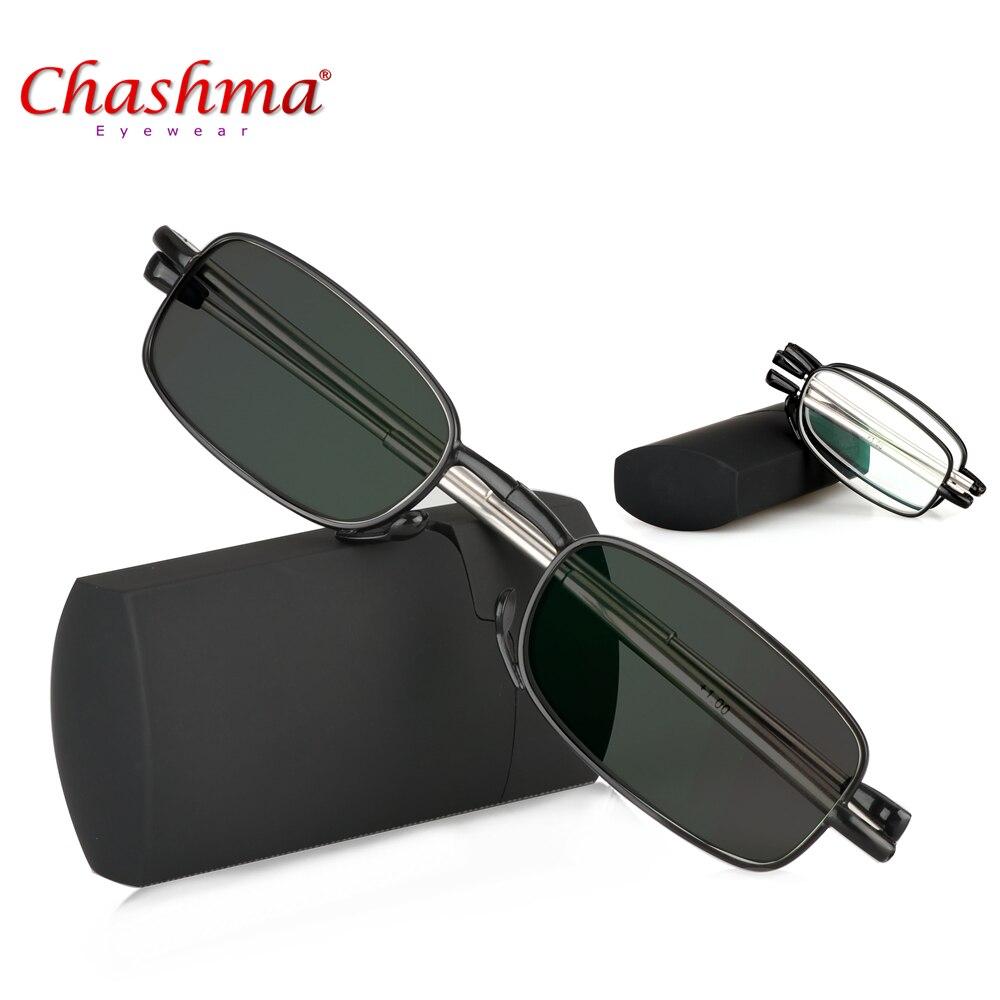 Chashma Mini Transition Sun Photochromic Read Glasses Quality Foldable Read Glasses Folding Reading Glasses Women Men With Case