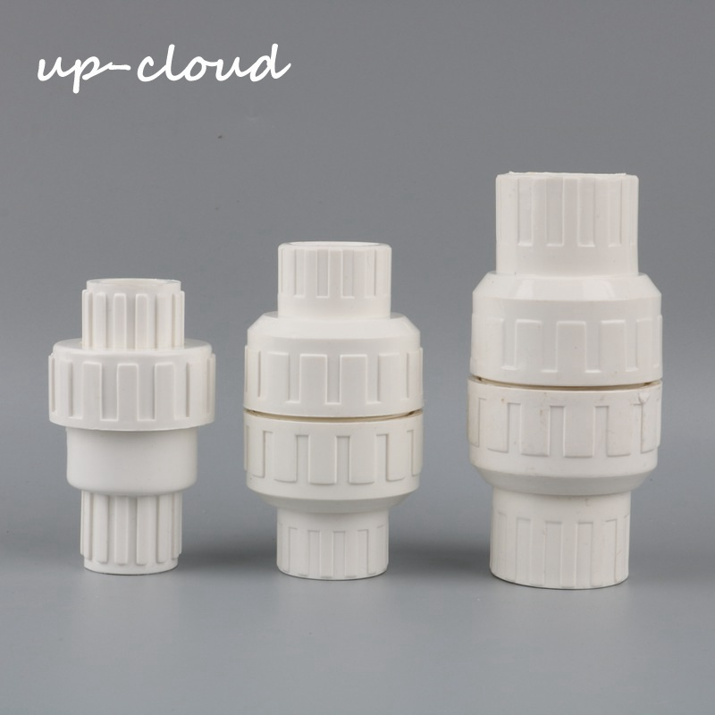 1pc 20mm 25mm 32mm check valve PVC pipe fittings plumbing system parts water tube connector water pipe non-return value image