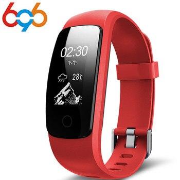 696 ID107 Plus HR Smart Band Monitor Detak Jantung Gelang Remote Control Gelang Kesehatan Kebugaran Tracker untuk Android IOS