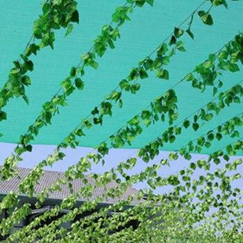 الزفاف الديكور 12 قطع 230 سنتيمتر أوراق لبلاب اصطناعية جارلاند النباتات البلاستيك الأخضر طويلة كرمة وهمية أوراق الشجر زهرة للمنزل ديكور
