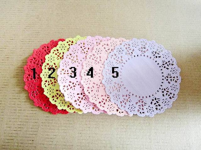 3 Dia114cm 45 Hollowed Lace Paper Doilies Crafts For Diy