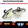 2 x LED Number License Plate Lamps OBC Error Free 18 LED For Honda Jazz Odyssey Stream Insight CR-V FR-V