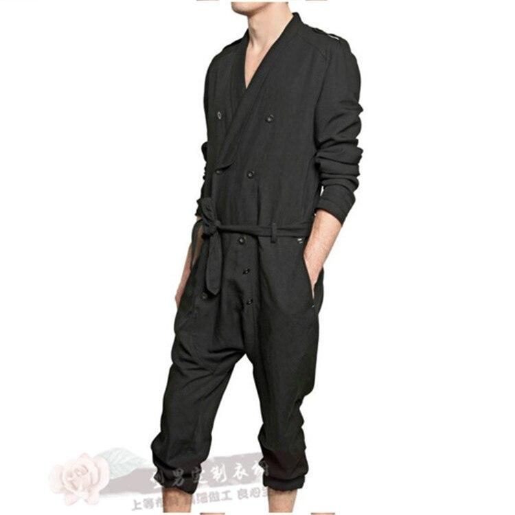 Flojo Hombres Pantalones Los Más Una Trajes Moda Pieza Del Tamaño Nuevos Negro Primavera Mono S Casual 5xl2017 De Cantante Wg0g6Fz