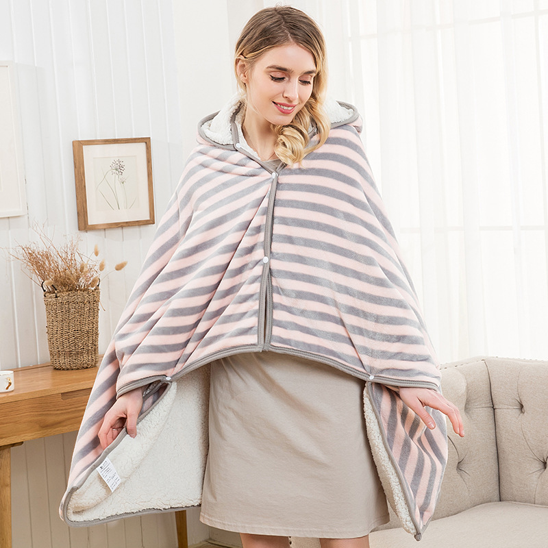 Flannel Blanket Hoodie Travel Totoro Blanket Kids Hooded Blankets Sweatshirt Unicorn Warm Fleece Coats TV Blankets for Beeding 19