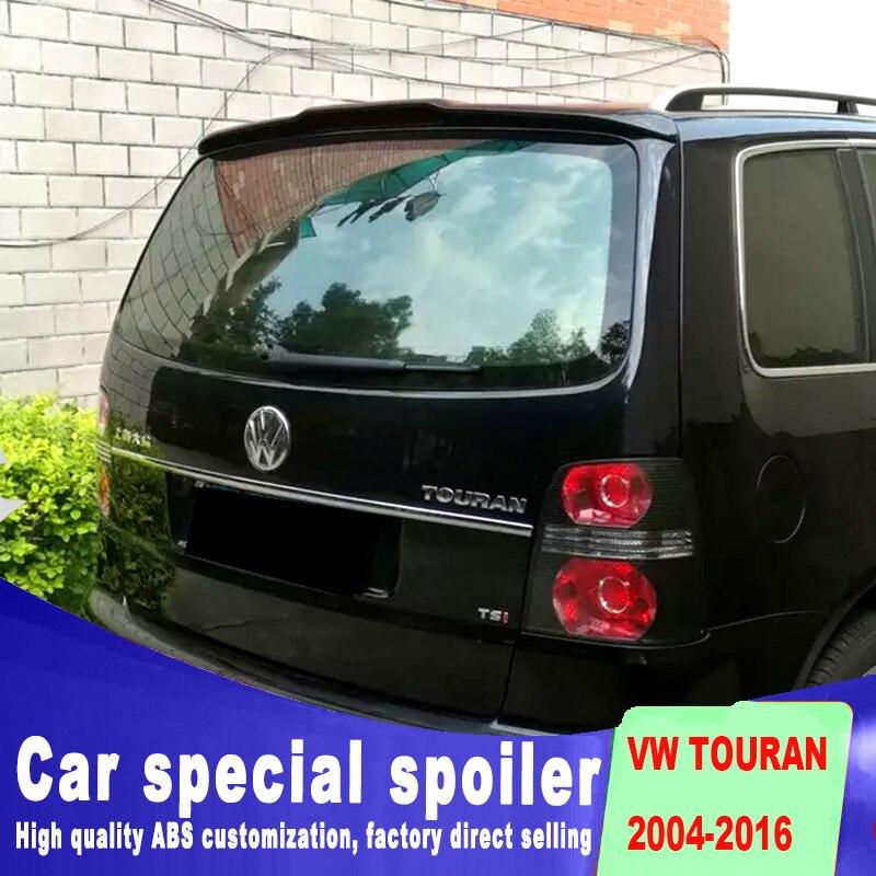 Золотой стиль для VW touran спойлер 2004 до 2016 Грунтовка Краска высокое качество абс материал задний оконный спойлер на крышу для Volkswagen
