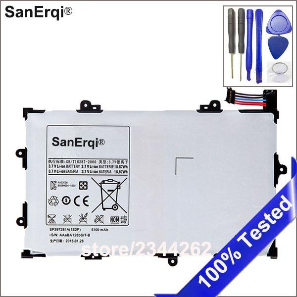 SanErqi 5100mAh High Quality pc Battery For Samsung GALAXY Tab 7.7 P6800 P6810 GT-P6800 GT-P6810 SP397281A(1S2P) With Free ToolsSanErqi 5100mAh High Quality pc Battery For Samsung GALAXY Tab 7.7 P6800 P6810 GT-P6800 GT-P6810 SP397281A(1S2P) With Free Tools