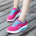 New Women Causal Shoes 2016 Fashion Flats Height Increasing Platform Loafers Breathable Air Mesh Swing Wedge Summer Shoe