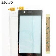 """ESUWO 4.5 """"Écran Tactile Digitizer Avant Panneau de Verre Pour Fly FS 451 Nimbus 1 Capteur Écran Tactile Noir Blanc Couleur"""