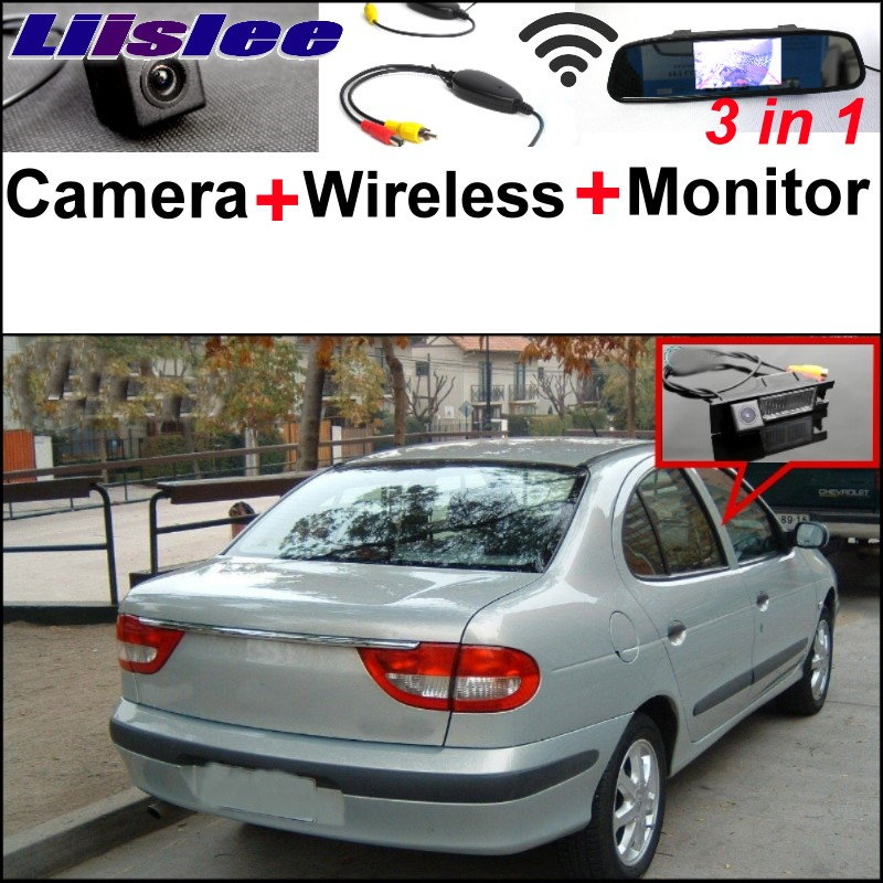 Liislee 3 in1 Special WiFi Rear View Camera + Wireless Receiver + Mirror Monitor Parking System For Renault Megane 1 I 1995~2002 liislee wifi wireless ccd camera