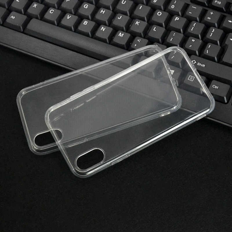 نقص واضح لينة TPU الهاتف حقيبة لهاتف أي فون 11 11Pro ماكس XS ماكس XR X 6 6S 7 8 زائد 5 5S SE 4 4S الغطاء الخلفي شفافة حالات