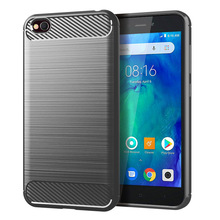 for xiaomi redmi go case silicone carbon fiber cell phone anti knock shatter resistant cases
